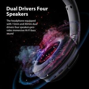 Image 3 - デイコム HF002 Bluetooth ヘッドセット有線ワイヤレスステレオヘッドホン内蔵マイクデュアルドライバ 4 スピーカーテレビ iphone サムスン Xiaomi