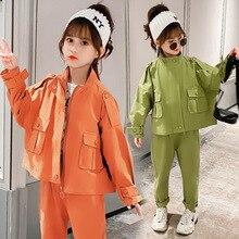 Toddler Girls Clothes Autumn Jackets Cargo Pants Teen Girls
