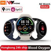 Xiaomi-reloj inteligente Xiaomi Mi, deportivo con GPS, control del ritmo cardíaco, Bluetooth 5,0, Pantalla AMOLED de 1,39 pulgadas, resistente al agua hasta 5atm