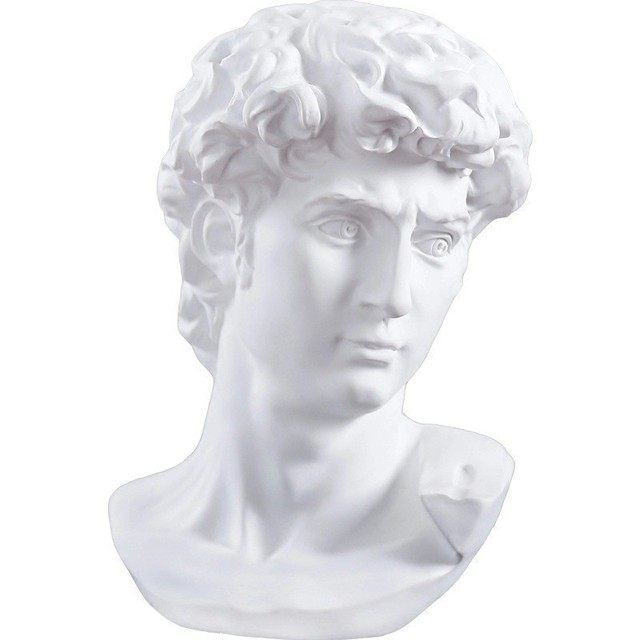 15cm David Statue Head Portraits Mini Gypsum Michelangelo Home Decoration Resin Art Craft Sketch Practice Room Decor sculpture 3