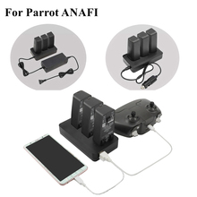 Multifunctionele Balance Fast Charger Adapter Auto Charger Outdoor Battery Charger Met Usb poort Voor Papegaai Anafi Drone Accessoires