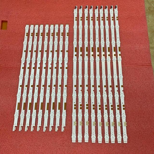 חדש 2 סט = 36pcs LED רצועת תאורה אחורית עבור Samsung UE55JU6800K UE55JU6870U V5DR_550SCA_R0 550SCB_R0 BN96 38481A 38482A 38880A 38881A
