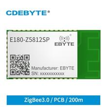 TLSR8258 2.4GHz Wireless ZigBee Module  ZIGBEE3.0 12dBm CDEBYTE E180-Z5812SP 200m Transceiver Receiver PCB Stamp Hole RFID IoT