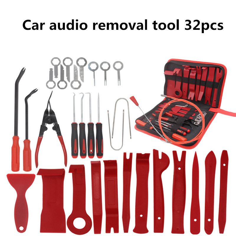 32Pcs Car Audio Disassembly Tool Interior Door Clip Panel Trim Dashboard Removal Tool Modification Car Repair Tool Hand Tool Kit