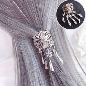 Retro Hollow Alloy Hair Clips For Women Hairpins Headwear Crystal Tassel Pendant Hair Pins Claw Accessories Tool New Arrival new arrival hot words hairclips melanin jealous blessed pitiless hair pins great quality hair accessories wholesale