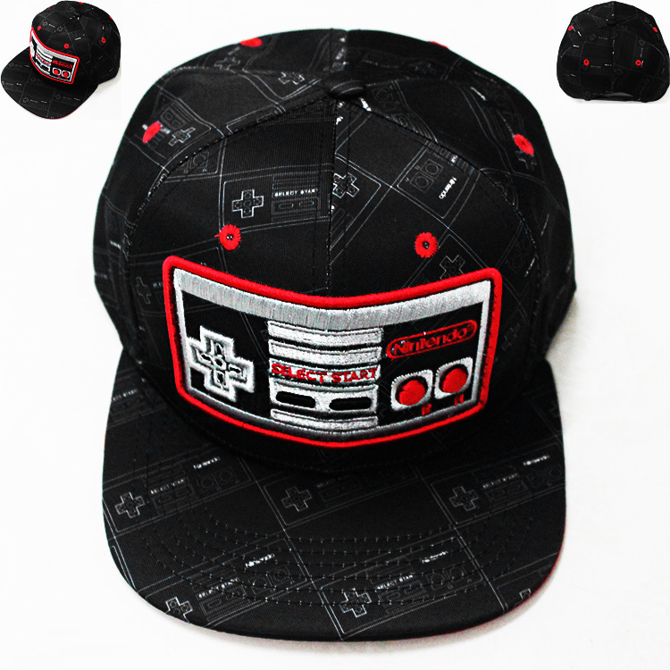 Precise 2021 New Embroidery Classic Game Machine Nintendo Hip Hop Hat Baseball Cap