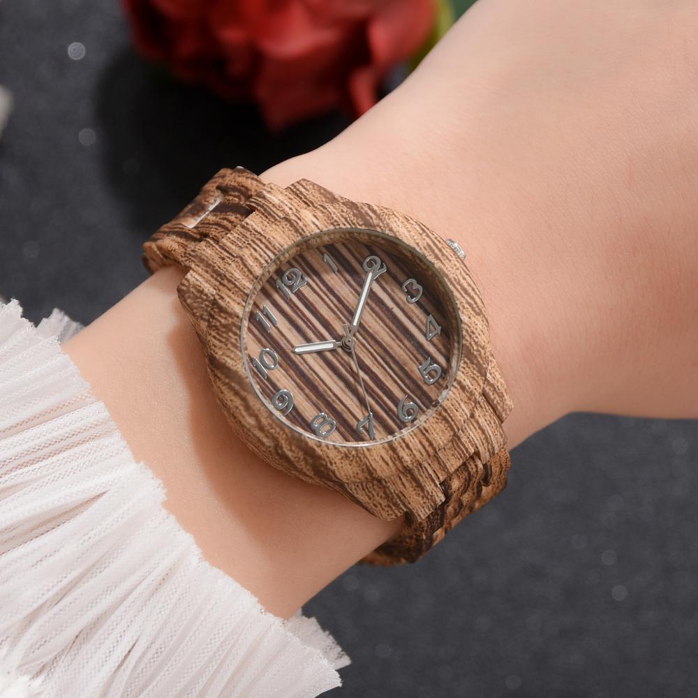 Relogio Masculino Watch Men Fashion Cool Wood Grain High-Quanlity Men Quartz Simple Digital Wooden Watch Wristwatch Reloj Mujer