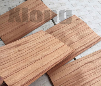 5Pieces/Lot 25x16cm Thickness:0.5mm Natural Red Rose Wood Clip Floor Dough Veneer