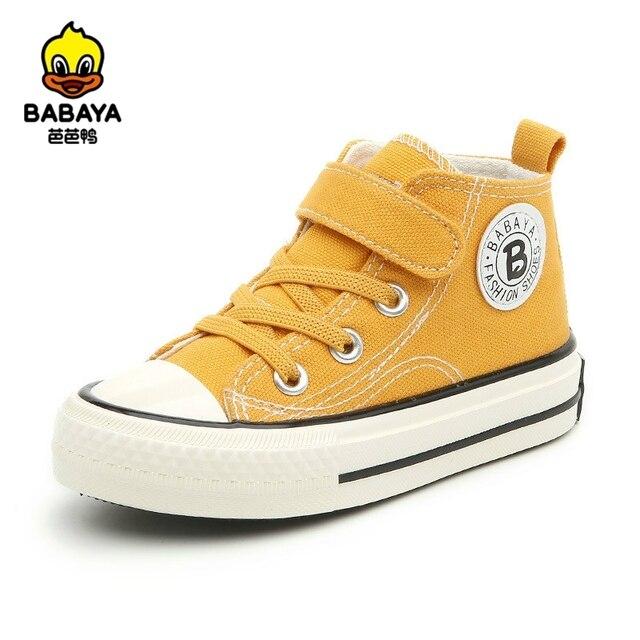 حذاء قماش للأطفال الفتيات أحذية رياضية عالية الفتيان أحذية الشتاء تنفس 2020 الخريف الشتاء موضة الاطفال حذاء كاجوال طفل الأحذية