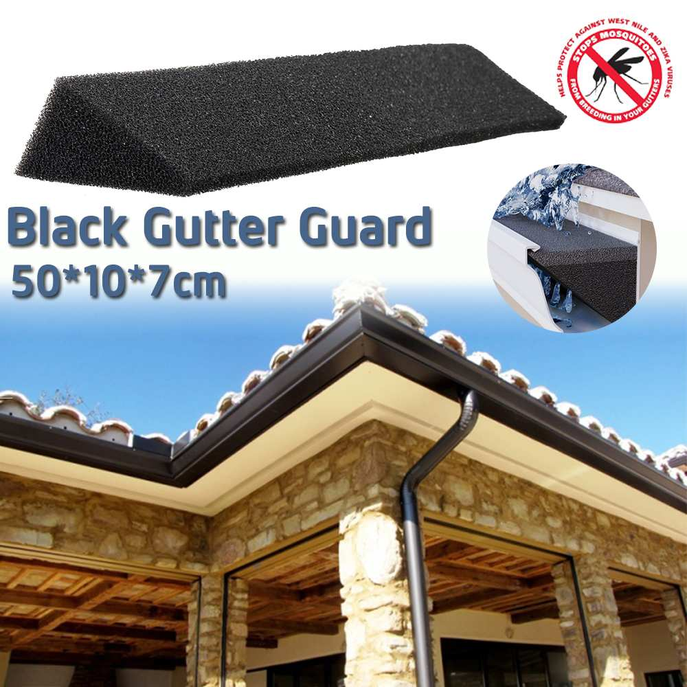 50cm Sponge Triangle Downpipe Filter Roof Gutter Guard Filters Suitable For Most Household Downpipes Gardensa