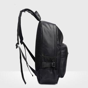 Image 5 - Yeni moda erkekler sırt çantası erkek sırt çantaları genç için lüks tasarımcı PU deri sırt çantaları erkek yüksek kaliteli seyahat sırt çantaları