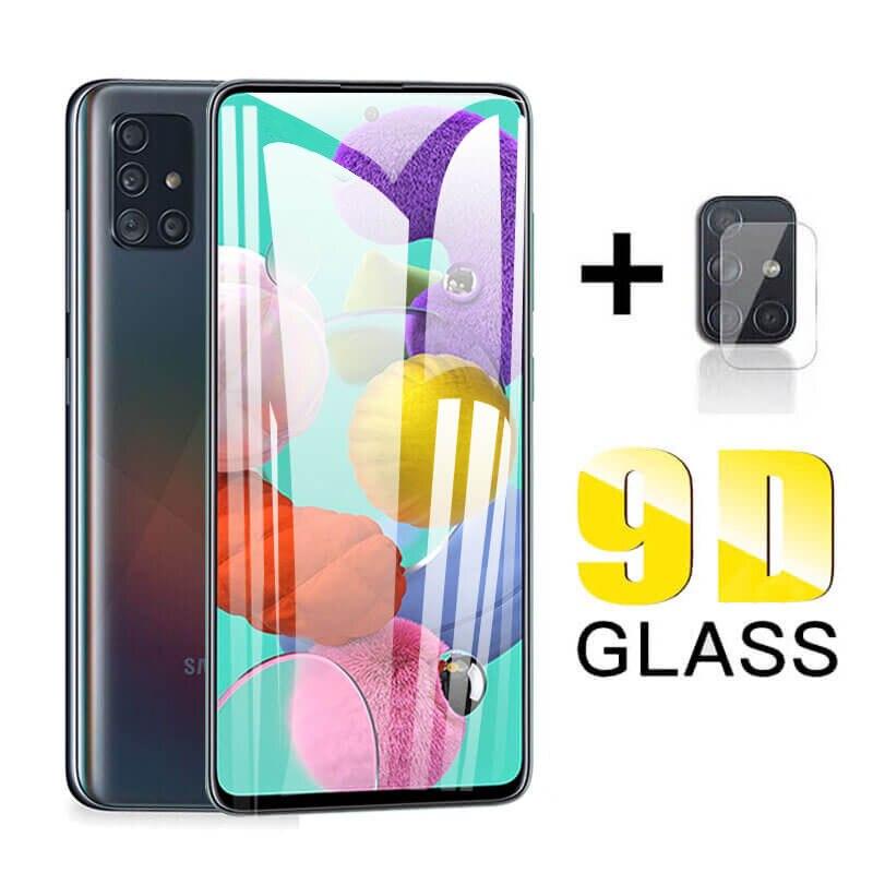 9D Samsun A51 Protective Glass For Samsung Galaxy A51 M21 A50 3D Tempered Glass Samsang A 51 51A A51 Camera Glass Protector Film