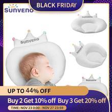 Sunveno bebê travesseiro infantil recém nascido sono apoio côncavo dos desenhos animados travesseiro almofada evitar cabeça plana