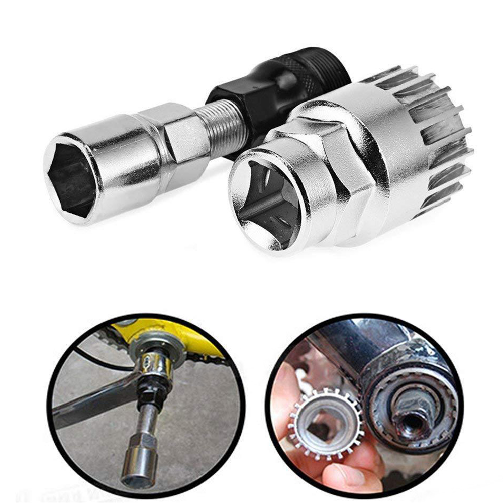 Remover Carbon Steel Puller Bike Bicycle Crank Extractor Wrench Center Shaft Kit Bottom Bracket Repair Tool Motorcycle
