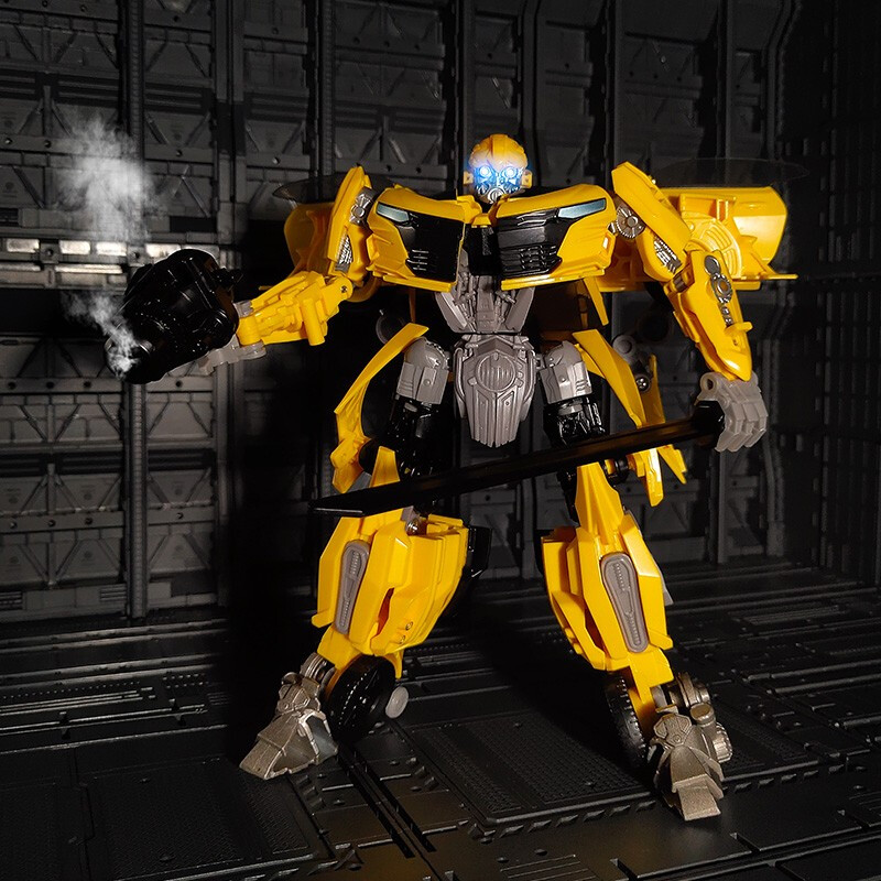 Bumblebee <font><b>transformer</b></font> King Kong series ABS plastic + alloy automobile robot anime figure Bumblebee <font><b>toy</b></font> image