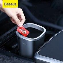 Baseus سيارة Trsah بن 800 مللي سلة النفايات السيارات التصميم حامل الصندوق القمامة مع 90 قطعة كيس النفايات ل اكسسوارات السيارات التخزين