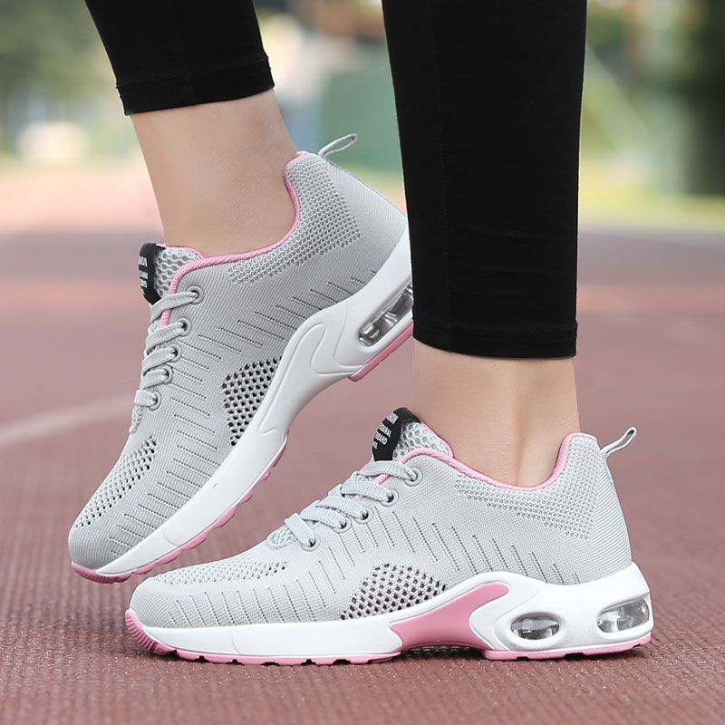 2019 Shoes Woman Air Mesh Cushion Women Fashion Sneakers Plus Size 42 Ladies Damping Sport Shoes Cheap Sale Women's Flats