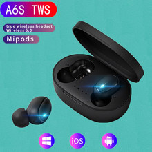 XLSTO A6S 무선 블루투스 5.0 이어폰 TWS For Xiaomi Redmi Airdots 헤드셋 소음 제거 이어폰 for Huawei SamgSung Phone(China)