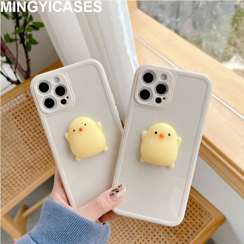 Cartoon 3D Chick Coque For Iphone 11 Pro Max Case Cute Squishy TPU Cover For Iphone 12 Pro 7 8 Plus Xr Xs Max X Fitted Case Capa