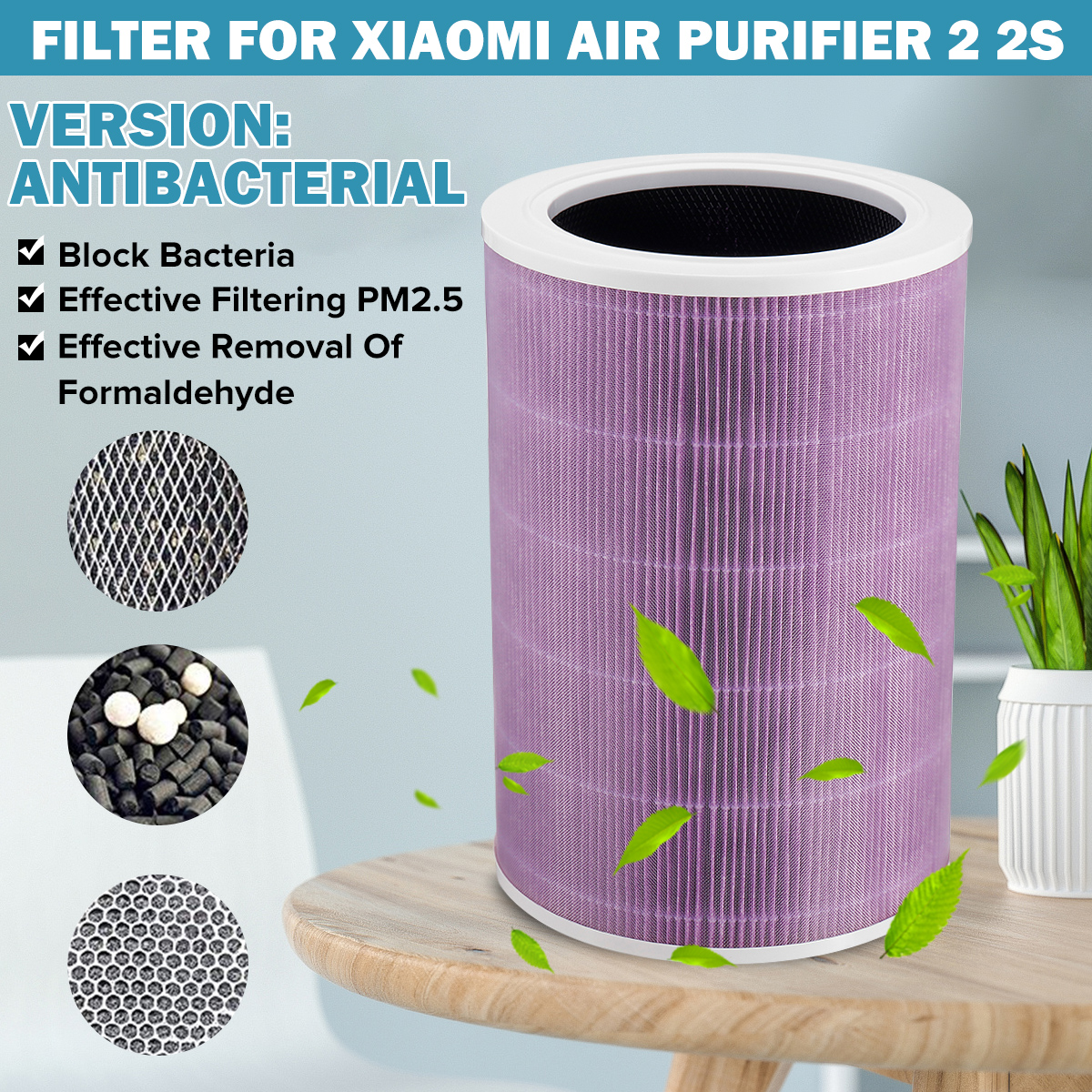 PM2.5 Carbon Hepa Air Filter Replacement For 1/2/2S Pro Air Purifier Filter Home Universal Remove Dust Formaldehyde