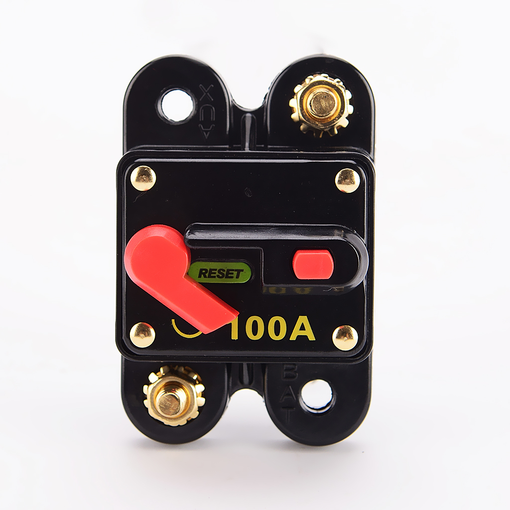 100 Amp Push Reset Circuit Breaker Fuse  Electrical System Protection