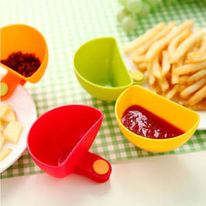 Bowl Saucer Ketchup Gravy-Boats Kitchen Dish Dip Salad 4pcs Tableware Clip-Cup Jam Small-Plate