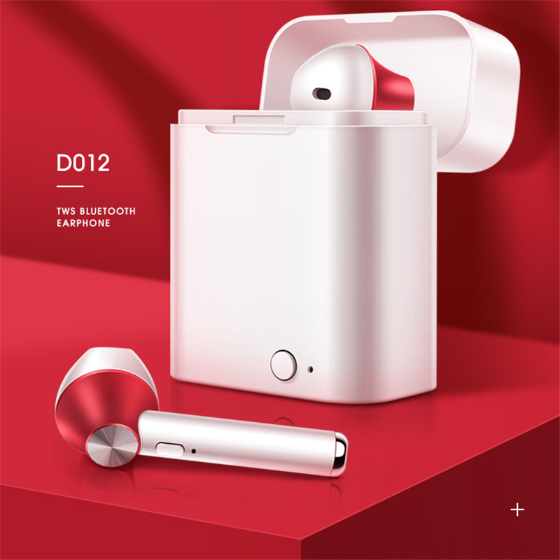 D012 TWS wireless Bluetooth 5.0 headset 6D bass  PK w1 chip 1:1 i10 i20 i60 tws i12 for iPhone Android
