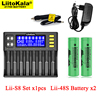 Caricabatterie LiitoKala Lii-S8 per batterie ricaricabili NiMH 3.7V Li-FePO4 + 18650 1.2 mAh agli ioni di litio 3.2V AA NiMH 21700 V Lii-48S 4800
