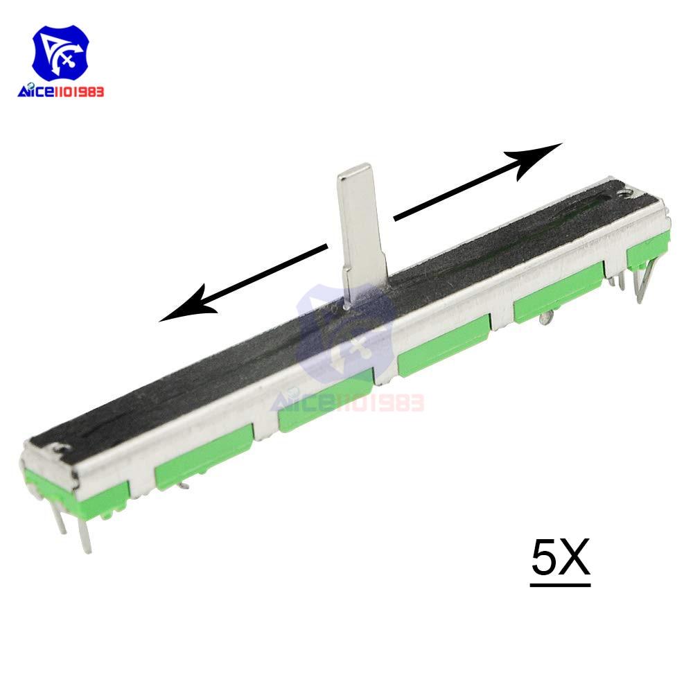 Потенциометр скольжения diymore 5 шт./лот, резистор B103 10K Ом, потенциометр скольжения, Двойной линейный потенциометр 10K