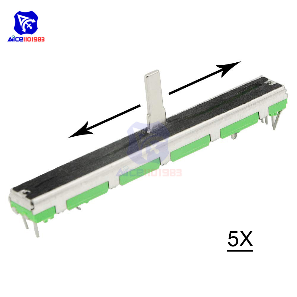 Diymore 5 Pçs/lote Slides Potenciômetro Resistor B103 10K Ohm Potenciômetro de Slides Potenciômetro Linear Duplo 10K