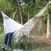 Hanging Chair Hammock Swing-Net Fringe Macrame Boho Indoor Double Brazilian 2 2-Person