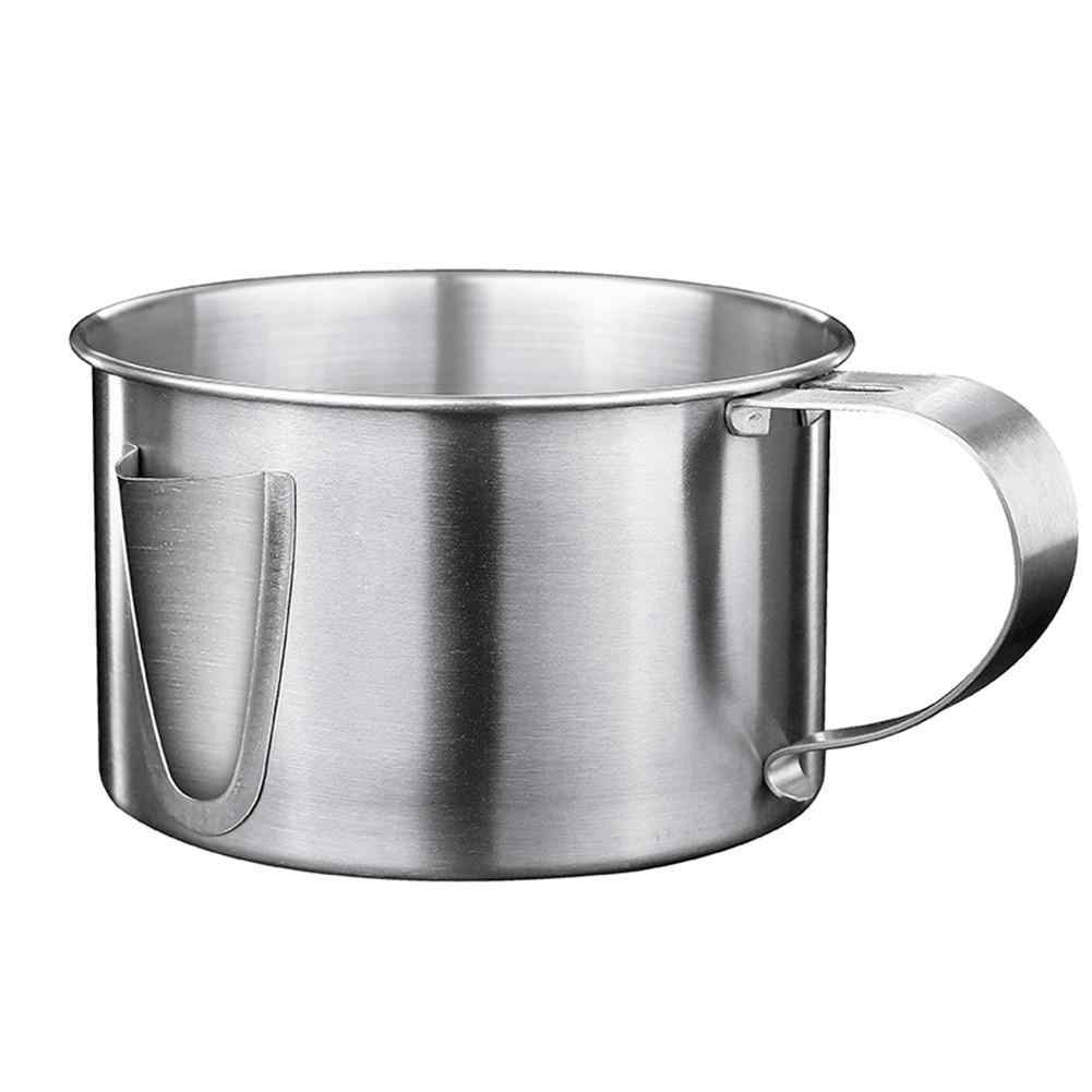 Details about  /Stainless Steel Fat Soup Filter Bowl Oil Grease Separator Strainer Cooking Tool