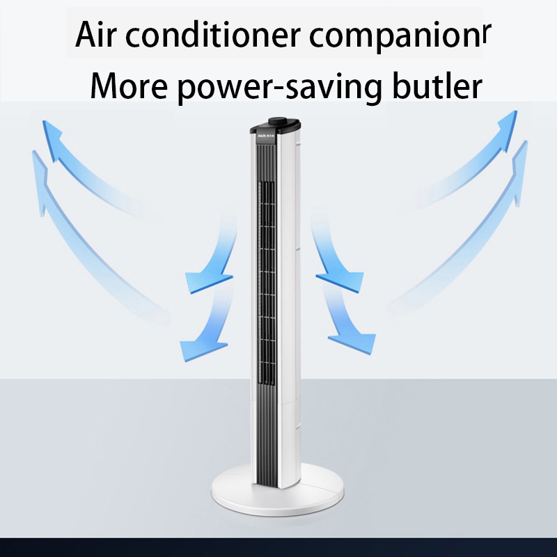 Electric Fan Home Tower Fan Remote Control Timing Shaking Head Floor Fan Office Vertical Leafless Fan Mute