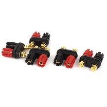 цена на Speaker Amplifier Dual Binding Post Banana Plug Socket Connectors 5pcs