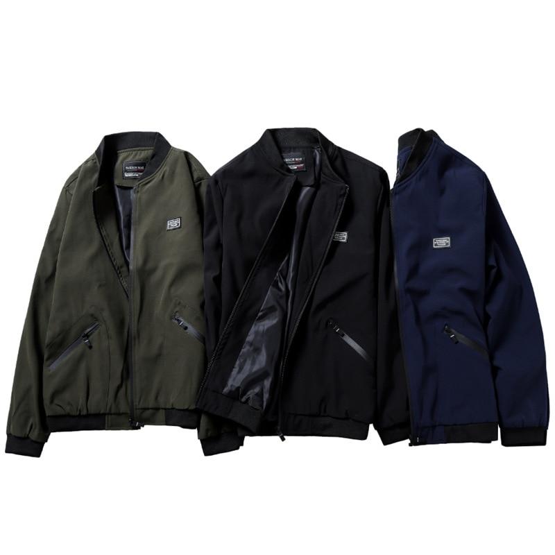 Size 8XL Man Autumn Jacket Men Loose Fat Fashion Coat Casual Baseball Uniform Outwear Male Windbreaker Streetwear ,GA545