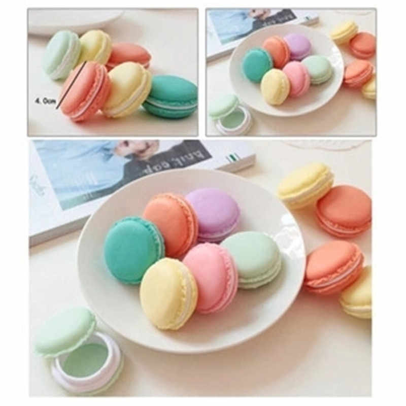 1PC Portable Cute Macaron Mini Storage Box Beautiful Candy Color Jewelry Boxes Necklace Earrings Ring Carrying Cases 4 colors