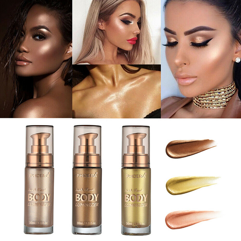 2019 Hot Sale New Fashion Wholesale Body Highlight Liquid Face Body Shimmer Make Up Liquid Brighten Cosmetic M3