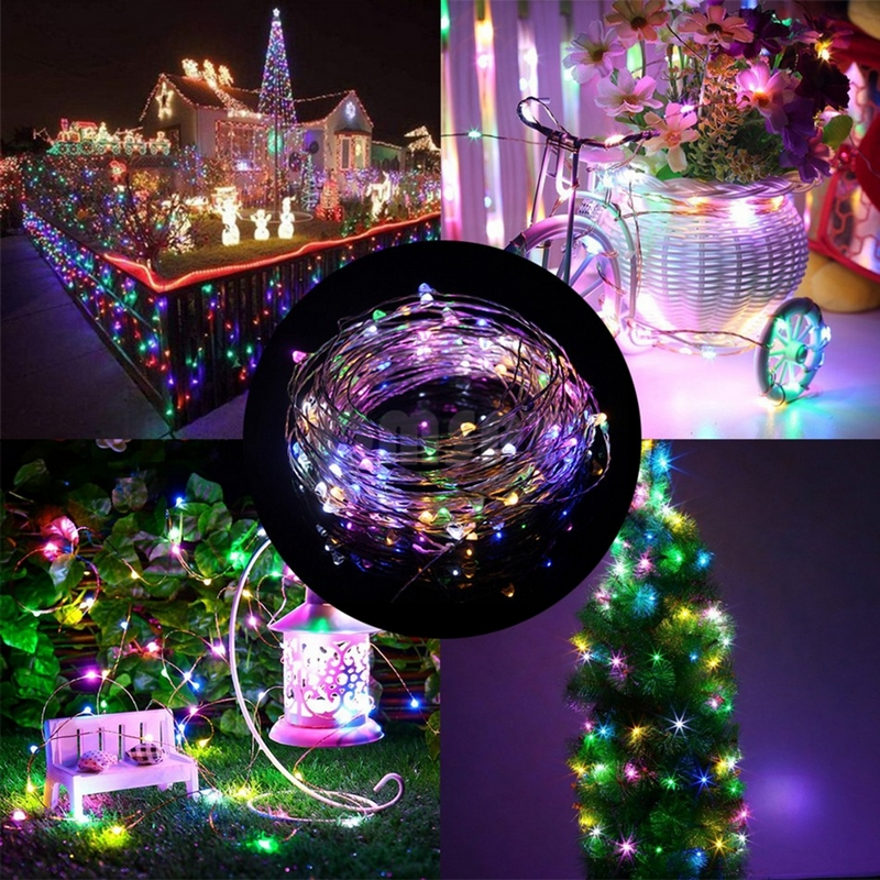BEKCMTH Led String Lights 1m 5m USB LED Light Lamp Outdoor LED Christmas Garland Copper Wire Fairy Home Wedding Party Decoration