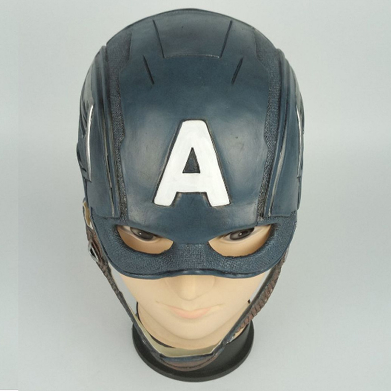 Captain America Cosplay Mask  Costume Party Helmet Props Civil War Halloween Soft Latex MaskerBoys Costume Accessories   -