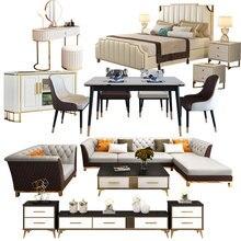 Hongkong style The whole house sets of light luxury furniture postmodern custom furniture