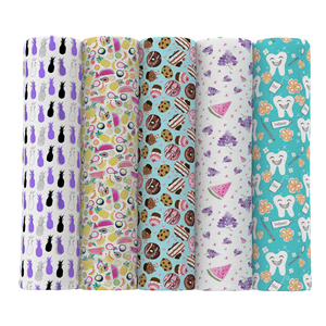David accessories 50*145cm Food Fruit Printed Polyester Cotton Fabric Patchwork for Sewing Dress DIY Cushion Cover,c11151