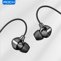 ROCK In Ohr Obsidian Stereo Kopfhörer 3,5mm Immersive Headset für iPhone iPad Samsung Luxus Earbuds Mit Mic Verdrahtete Kopfhörer