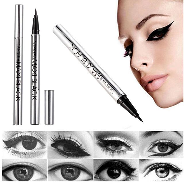 YANQINA Ultimate Black Long Lasting Eye Liner Pencil Waterproof Eyeliner Smudge-Proof Cosmetic Beauty Makeup Liquid Delineador 1