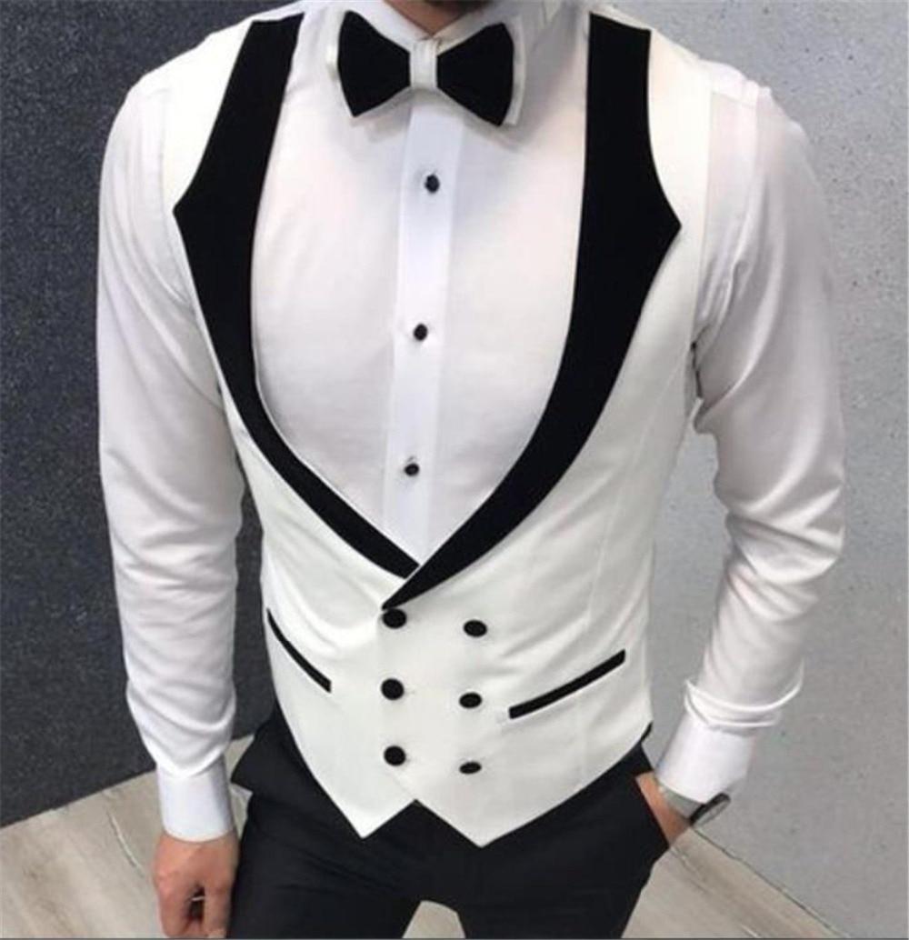 White-Double-Breasted-Fashion-Wedding-Vests-Men-s-Waistcoat-Slim-Fit-Groom-Vests-Business-Suit-Vest