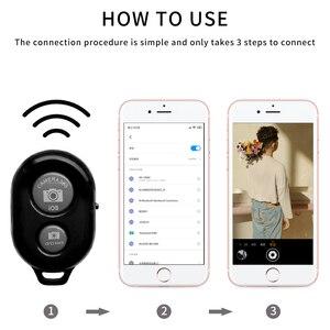 Image 3 - 무선 셔터 원격 제어 전화 셀프 타이머 버튼 셔터 Selfie 릴리스 버튼 컨트롤러 어댑터 사진 안드로이드 IOS