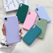 Matte Phone Case For Huawei P30 P20 Lite Pro P Smart Plus 2019 Soft TPU Candy Color Case For Huawei P8 P9 P10 Lite 2017 Fundas(China)