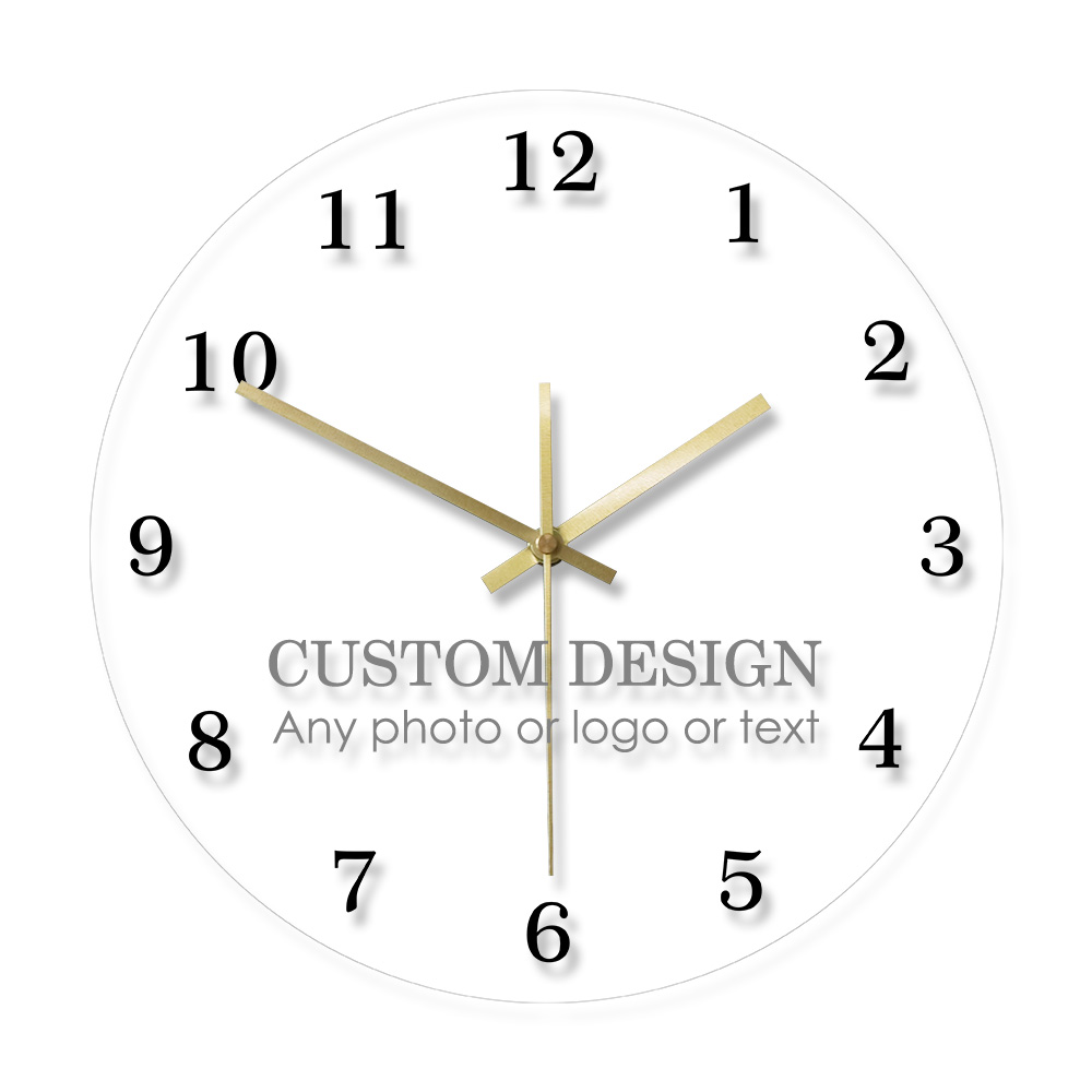Custom Order Your Design Your Logo Your Company Name Personalized Your Proudcts Wall Clock Reloj Pared Saat