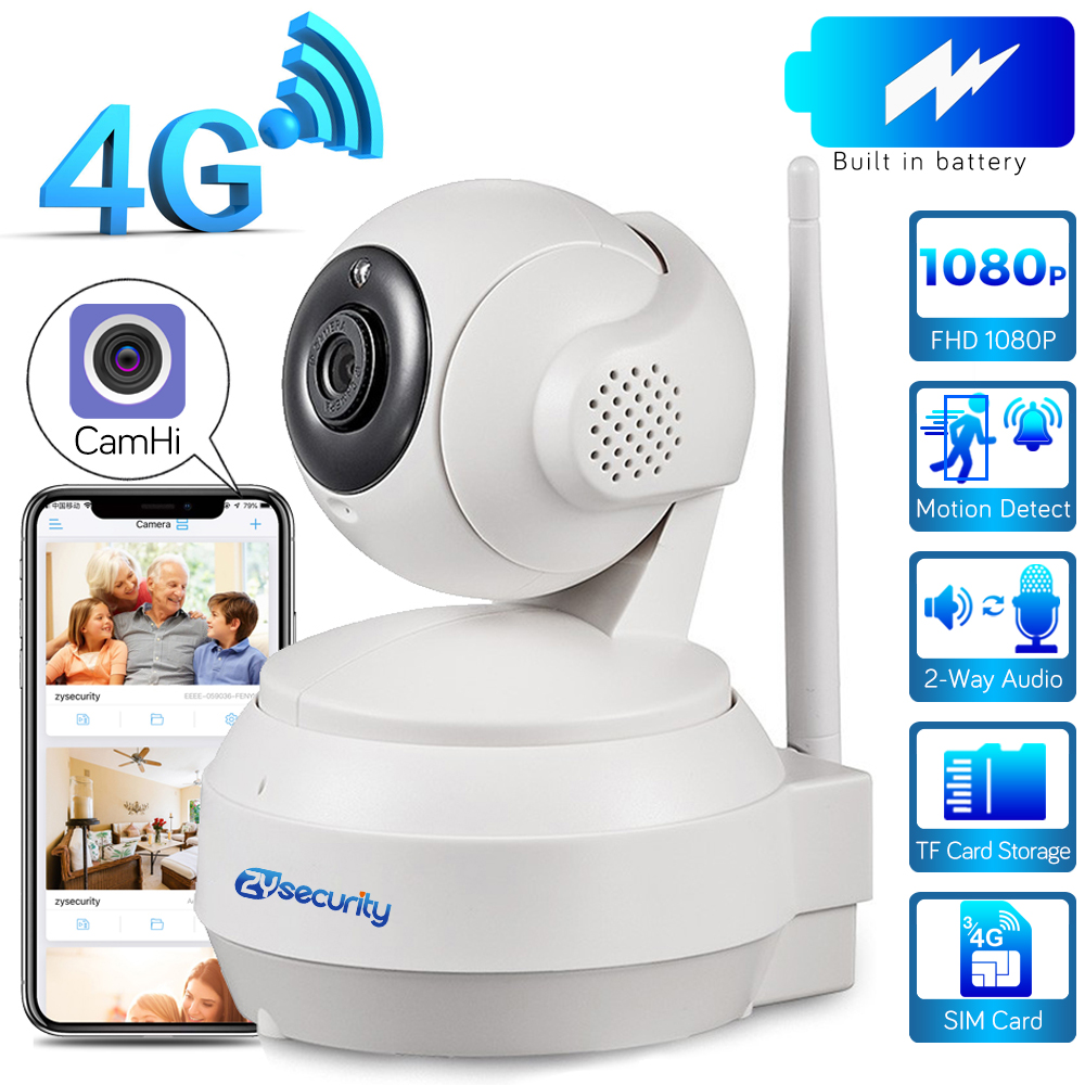 3G 4G Sim Card IP PTZ Camera 1080P Wireless Home Security Camera 2-Way Audio Video Surveillance CCTV Network Battery Dome Camera