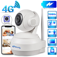 3G 4G Sim Card IP PTZ Camera 1080P Wireless Home Security Camera 2 Way Audio Video Surveillance CCTV Network Battery Dome Camera