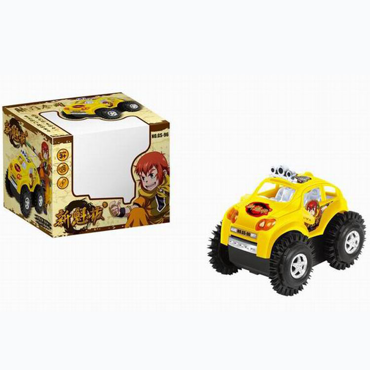 Kids' Toy Electrocar Cartoon Electric Dump Truck Flip Stunt Car Plastic Car